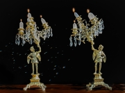 Clara's 19th century Candelabra - Note the Angle by Lew Wasserstein