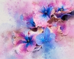 BLUE & PURPLE FLOWERS by Judi Saunders - Copy