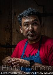 Leather-Craftsman-Argentina-by-Lew-Wasserstein