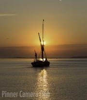Martin Roberts - Sailing Boat at Dusk by Martin Roberts small-Edit